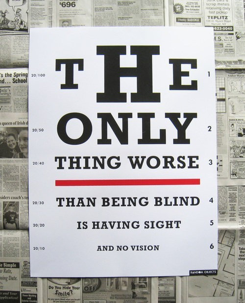 Don't Turn a Blind Eye to the World.
